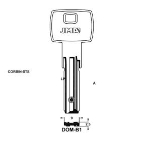 JMA DOM-B1 Bohrmulden-Schlüsselrohling