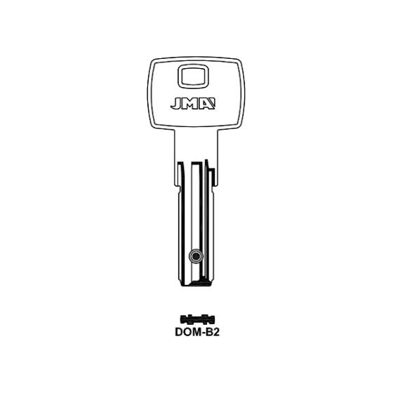 JMA DOM-B2 Bohrmulden-Schlüsselrohling