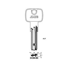 JMA DOM-B6 Bohrmulden-Schlüsselrohling
