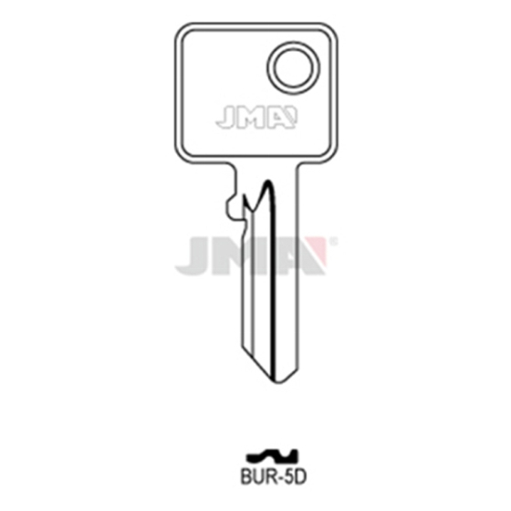 JMA BUR-5D Schlüsselrohling für BURG
