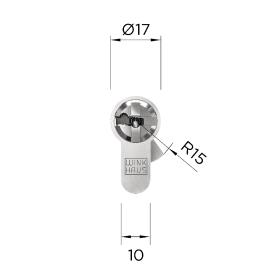 WINKHAUS keyTec N-tra Doppelzylinder asymmetrisch