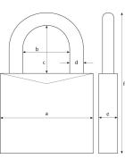 ABUS 158CS/65 B/EFSPP Kombination-Hangschloss