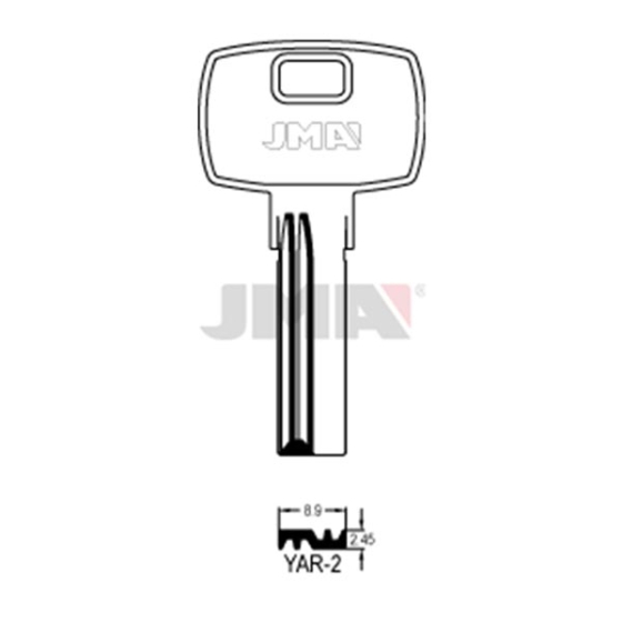 JMA YAR-2 Bohrmulden-Schlüsselrohling