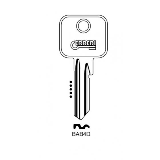 ERREBI BAB4D Schlüsselrohling für BAB