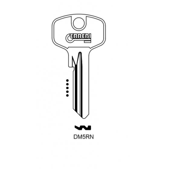 ERREBI DM5RN Schlüsselrohling für DOM