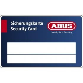 ABUS XP2S Ersatzschlüssel nach CODE der Sicherungskarte