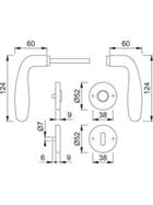 HOPPE Rosetten-Bad-Garnitur CARDIFF 3588727 E1850Z/17KV/17KVS F69 8 8 SK/OL 37-42