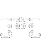 HOPPE Rosetten-Bad-Garnitur TRONDHEIM 37-42 2821232 E1430Z/42KV/42KVS SST F69 8 8 SK/OL