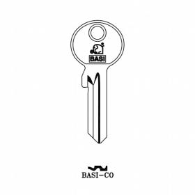 BASI CO Zylinder-Schlüsselrohling für BASI CO