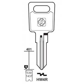 Silca HW4R Schlüsselrohling für HUWIL