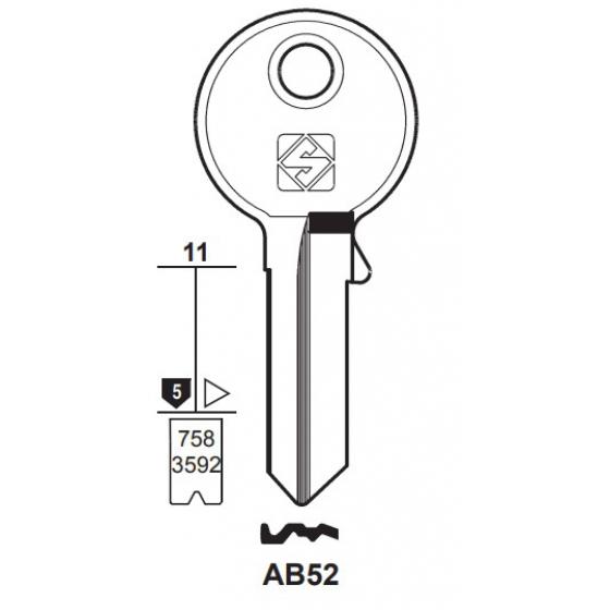 Silca AB52 Schlüsselrohling für ABUS
