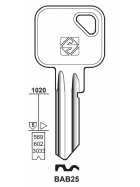 Silca BAB25 Schlüsselrohling für BAB
