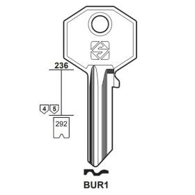 Silca BUR1 Schlüsselrohling für BURG