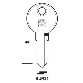 Silca BUR31 Schlüsselrohling für BURG