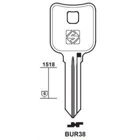 Silca BUR38 Schlüsselrohling für BURG