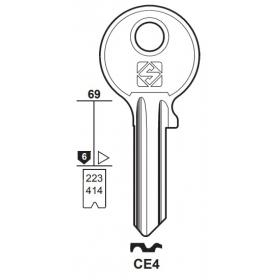 Silca CE4 Schlüsselrohling für CES