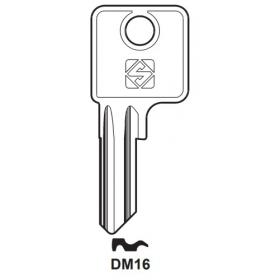 Silca DM16 Schlüsselrohling für DOM