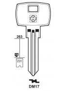 Silca DM17 Schlüsselrohling für DOM