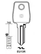 Silca EU13R Schlüsselrohling für EURO LOCKS