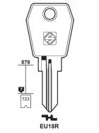 Silca EU18R Schlüsselrohling für EURO LOCKS