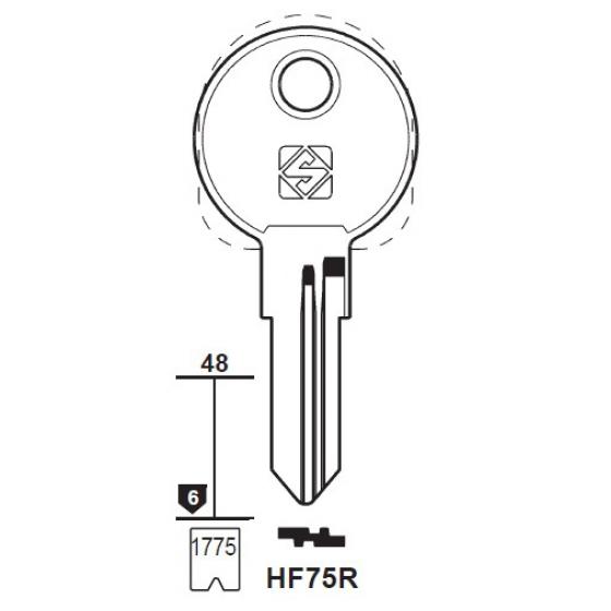 Silca HF75R Schlüsselrohling für HAEFELE