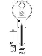 Silca HN3 Schlüsselrohling für HEKNA