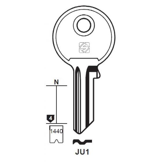 Silca JU1 Schlüsselrohling für JU