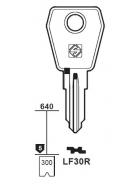 Silca LF30R Schlüsselrohling für LOWE & FLETCHER