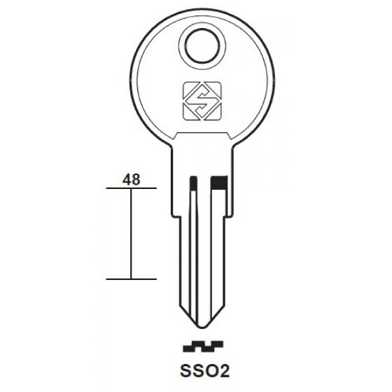Silca SSO2 Schlüsselrohling für SISO
