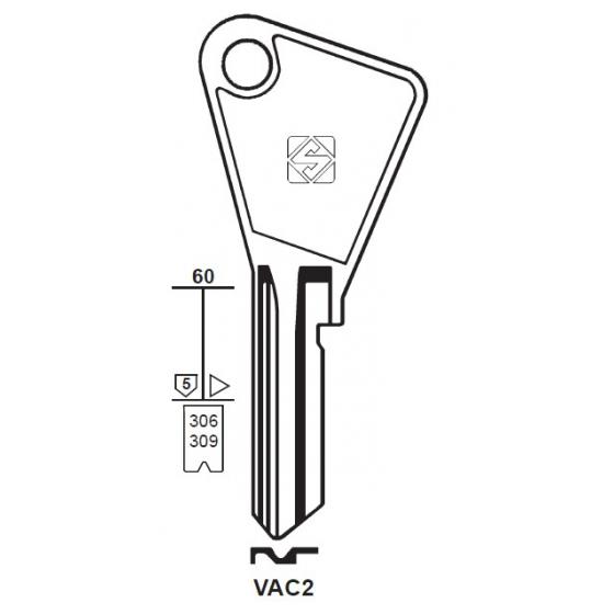 Silca VAC2 Schlüsselrohling für VACHETTE