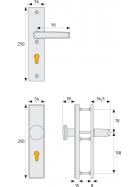 ABUS HLS214 Türschutzbeschlag ohne Zylinderschutz