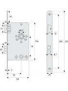 ABUS TKB10 Einsteckschloss für Bad/WC