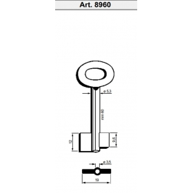 Silca 8960 30 Rohling Doppelbartschlüssel gebohrt