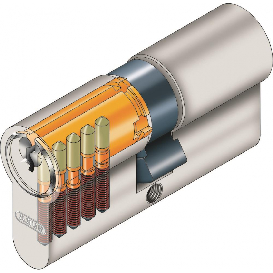 Abus Profilzylinder Zylinder Türzylinder 40//40 C83 Doppelzylinder