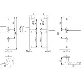 HOPPE Aluminium-Schutz-Langschild-Garnitur für...