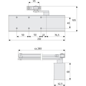 ABUS 8603 Türschließer