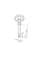 BASI 2903 Möbel-Schlüsselrohling Druckguss