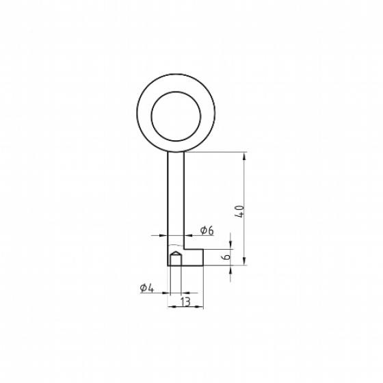 BASI 2919 Möbelschlüssel-Rohling