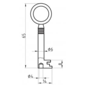 BASI 2151 Möbel-Schlüsselrohling Chubbform