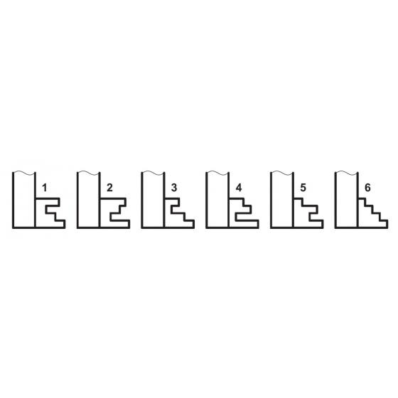 BASI 2151.5 Möbel-Schlüsselrohling Chubbform mit niedrigem Werk