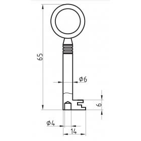 BASI 2151.5 Möbel-Schlüsselrohling Chubbform...